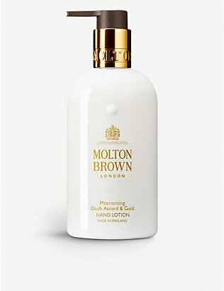 MOLTON BROWN: Oudh Accord & Gold liquid hand lotion 300ml