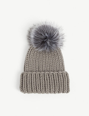 EUGENIA KIM Rain metallic wool beanie