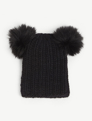 EUGENIA KIM Mimi wool and fur beanie