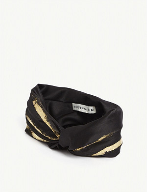 EUGENIA KIM Malia satin turban headband