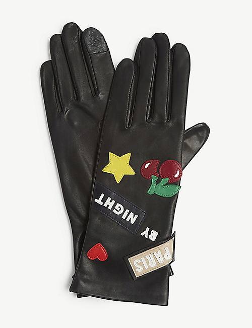 AGNELLE Paris by night leather gloves