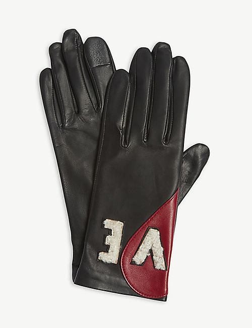 AGNELLE 'Amour' leather gloves