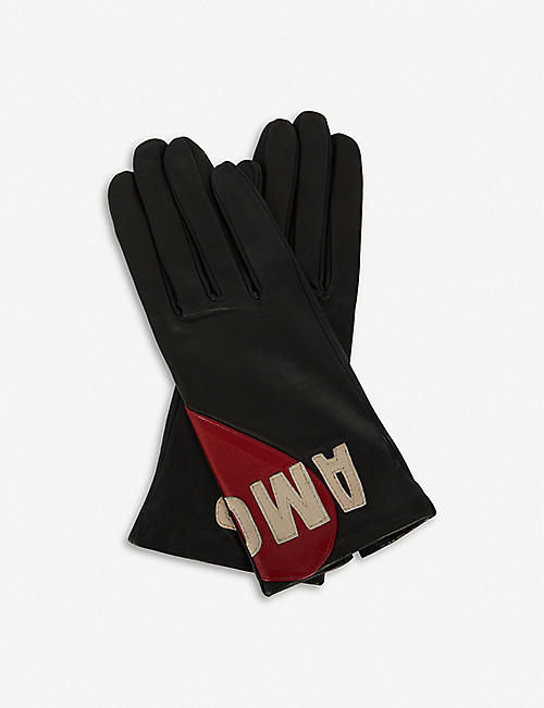 AGNELLE Amour leather gloves