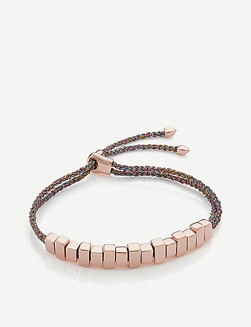 MONICA VINADER Linear Inglot 18ct rose-gold vermeil woven friendship bracelet