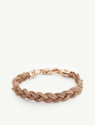 EMANUELE BICOCCHI Rose gold-plated braided silver bracelet