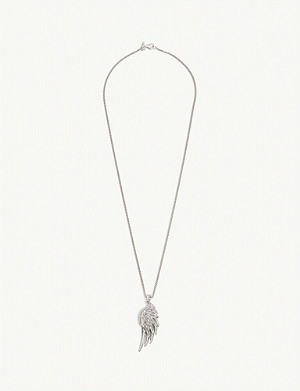 EMANUELE BICOCCHI Sterling silver wing necklace