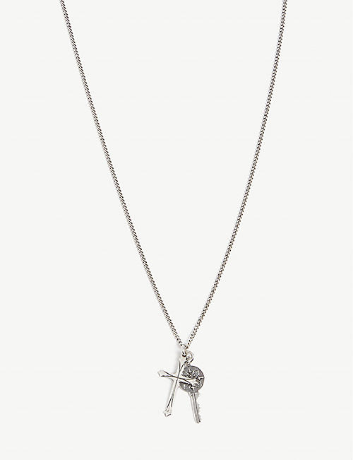 EMANUELE BICOCCHI Key and cross sterling silver necklace