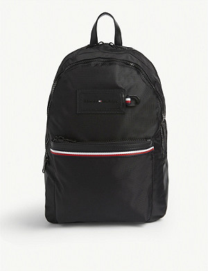 TOMMY HILFIGER Modern branded woven backpack