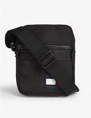 TOMMY HILFIGER: Sport Mini Reporter woven cross-body bag