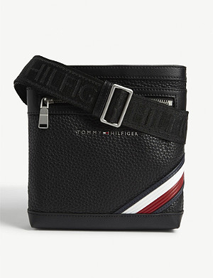 TOMMY HILFIGER Downtown striped faux-leather crossover bag