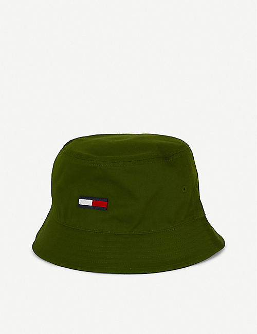 TOMMY HILFIGER Flag logo cotton bucket hat