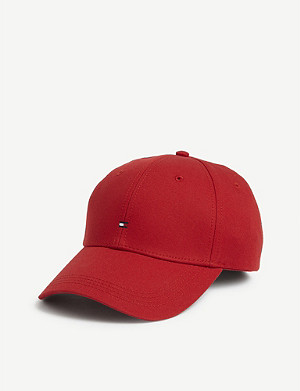 TOMMY HILFIGER Flag logo cotton baseball cap
