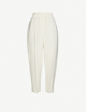 BRUNELLO CUCINELLI Elasticated tapered woven trousers