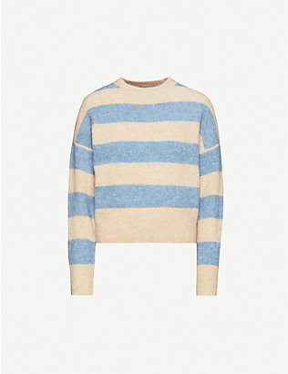 BRUNELLO CUCINELLI: Wide stripe mohair-blend jumper