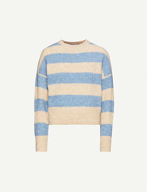 BRUNELLO CUCINELLI Wide stripe mohair-blend jumper