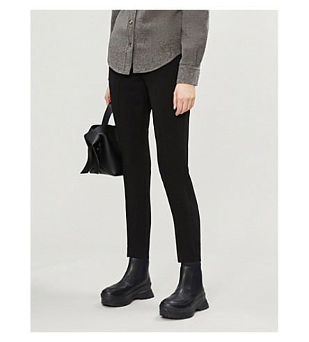 Brunello Cucinelli TAPERED HIGH-RISE CREPE TROUSERS