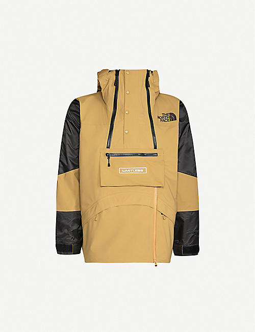 NORTH FACE BLACK Colour-blocked drawstring-hood shell jacket