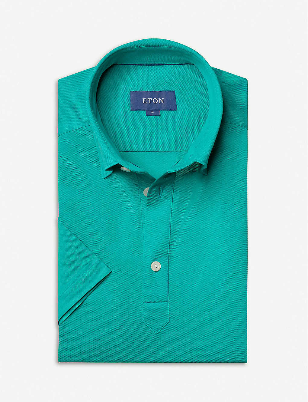 ETON: Short-sleeved cotton-piqué polo shirt
