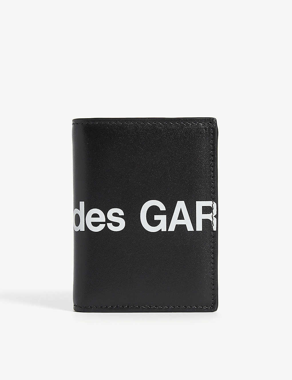 COMME POCKET: Logo print leather wallet