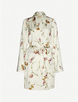 MYLA: Clifton Gardens floral-print stretch-silk gown