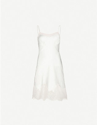 MYLA: Alma lace-trim satin-silk night dress