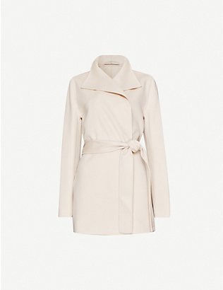 JOSEPH: Lima wool and cashmere-blend belted coat