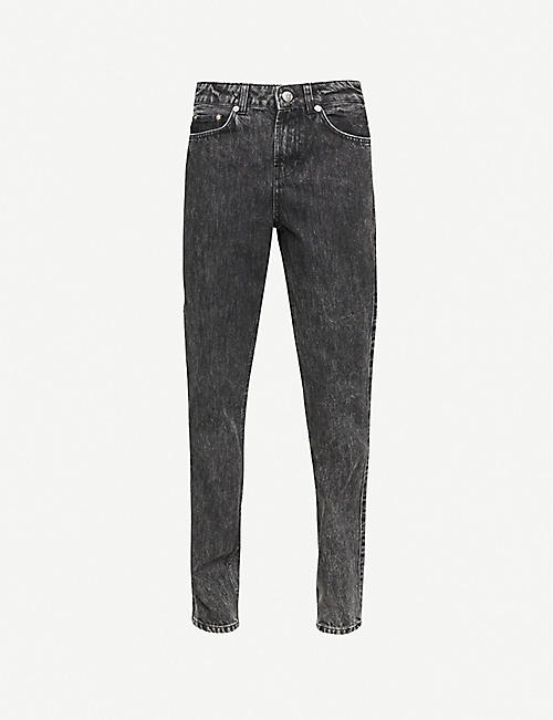 GANNI: High-rise straight washed denim jeans