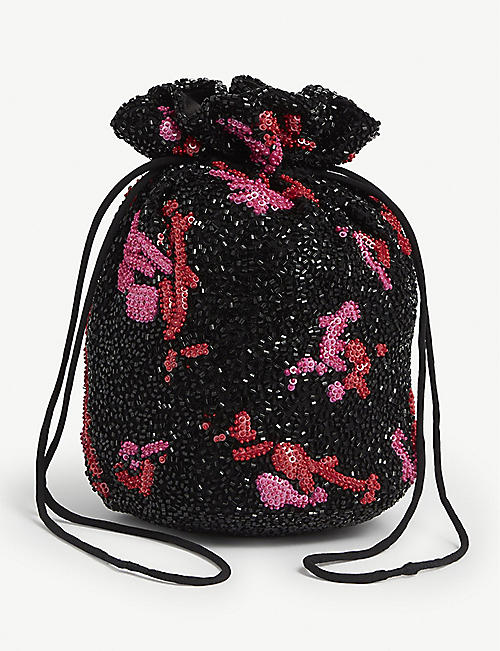 GANNI: Beaded bag