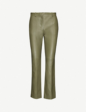 JOSEPH Coleman leather trousers