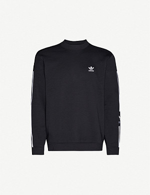 ADIDAS Logo-embroidered cotton-jersey sweatshirt