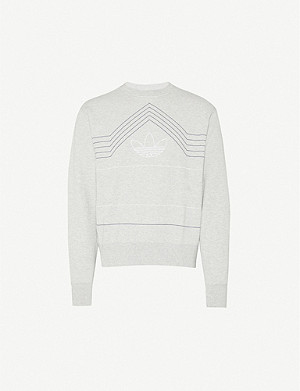 ADIDAS Rivalry Trefoil-embroidered cotton-jersey sweatshirt