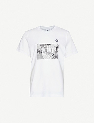 ADIDAS Samstag photo-print cotton-jersey T-shirt