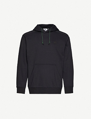 ADIDAS Logo-embroidered cotton-blend jersey hoody