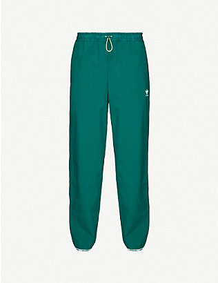 ADIDAS: Logo-embroidered woven jogging bottoms