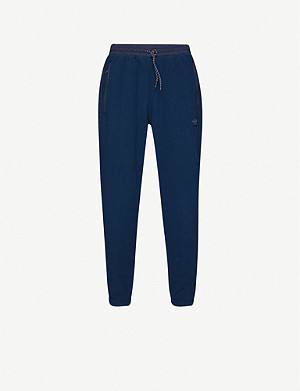 ADIDAS Trefoil-embroidered fleece jogging bottoms