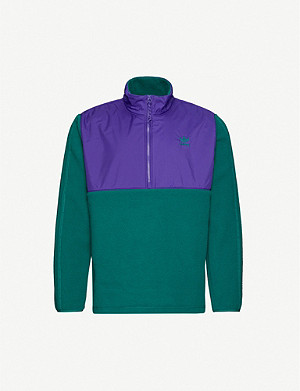 ADIDAS Funnel-neck shell and fleece jacket