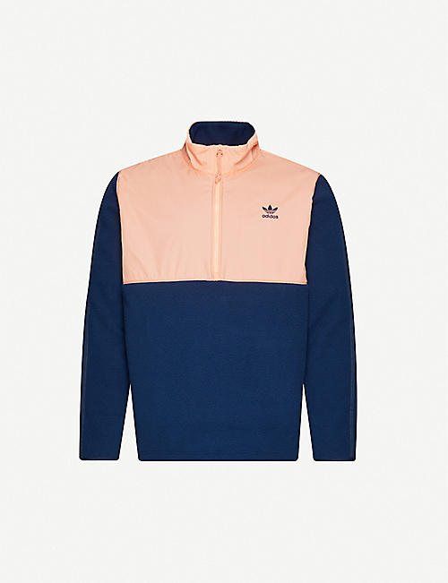 ADIDAS: Funnel-neck shell and fleece jacket