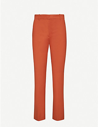 JOSEPH: Coleman stretch-gabardine straight leg trousers