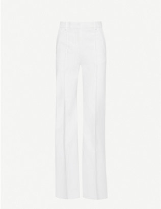 JOSEPH: Richard double cotton-blend trousers