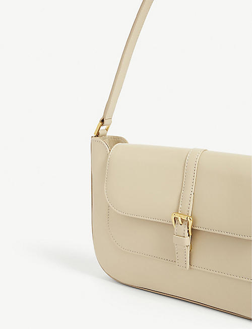 BY FAR Miranda leather mini shoulder bag