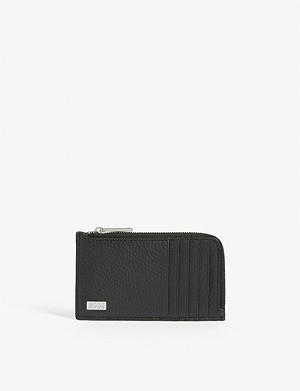 BOSS Crosstown leather zip-around wallet