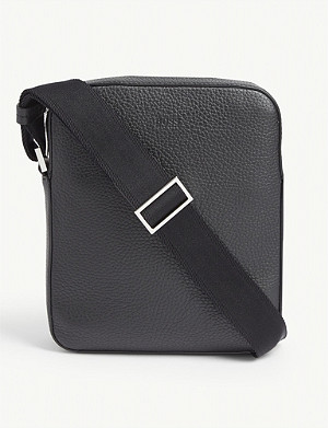 BOSS Crosstown leather cross-body bag