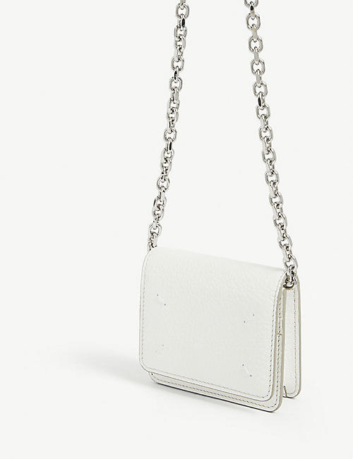 MAISON MARGIELA Four stitch grained leather crossbody bag