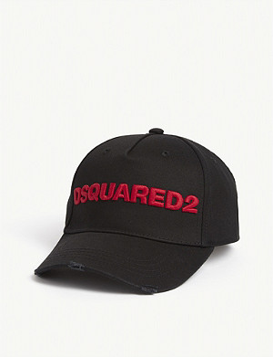 DSQUARED2 ACC Embroidered logo cotton baseball cap