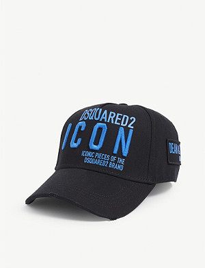 DSQUARED2 ACC ICON logo cotton baseball cap