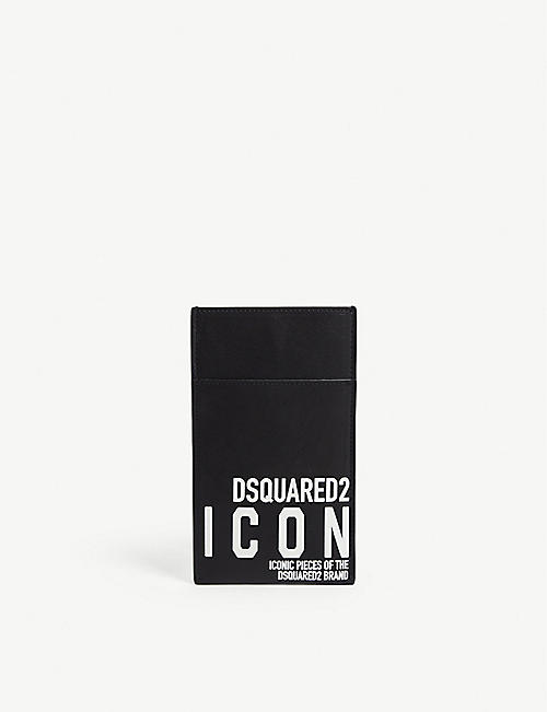 DSQUARED2 ACC Icon leather phone pouch