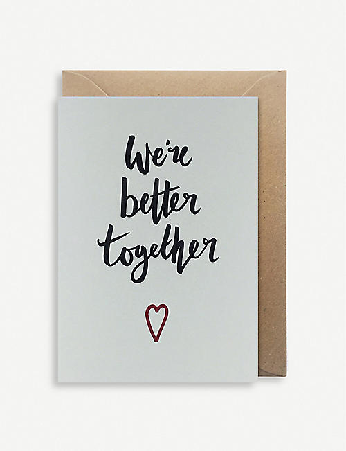 OVER THE C We're Better Together card