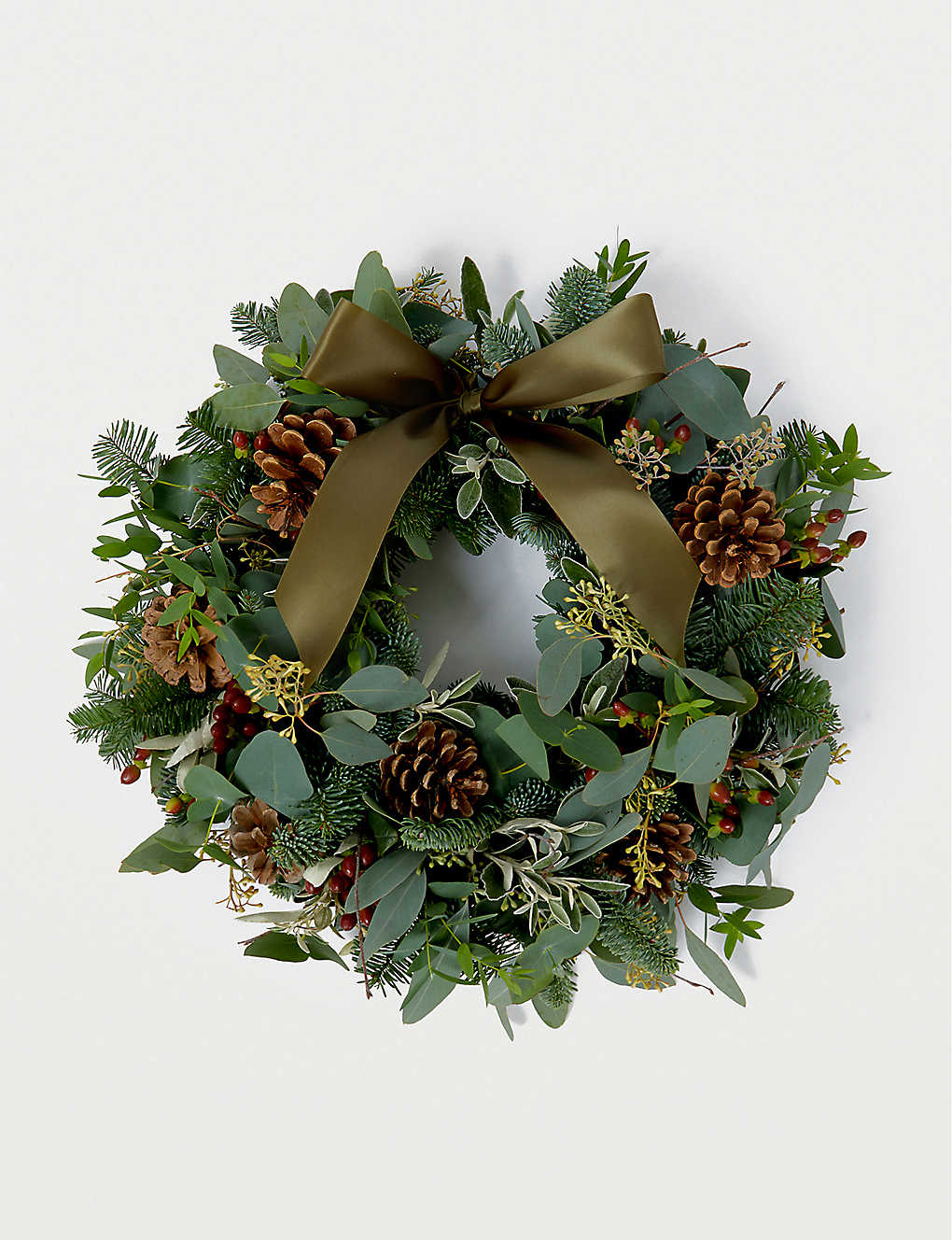 THE REAL FLOWER COMPANY: Berry, Herb and Foliage Door Wreath