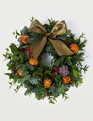 THE REAL FLOWER COMPANY Citrus and Spice door wreath