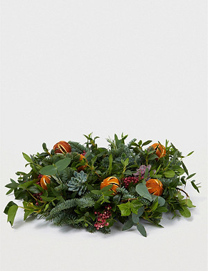 THE REAL FLOWER COMPANY Citrus Spice table wreath